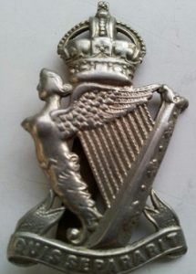 The insignia of the Royal Irish Rifles as worn by Robert.